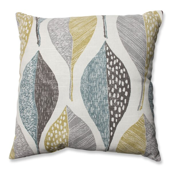 Burman Leaf Rain 100% Cotton Throw Pillow by Red Barrel Studio